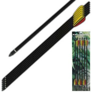 6 - Aluminum Crossbow Arrows MKAL20-6BK