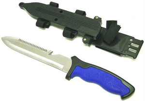 SCUBA Knife Blunt Point Blue HK2287-1