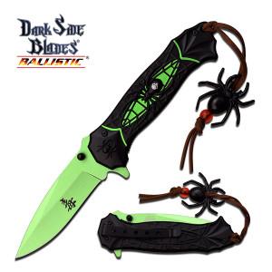 AO Dark Side Spider Folding Knife DSA036GN