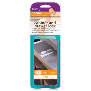 Adhesive Mount Cabinet and Drawer Lock 3 pack S3313