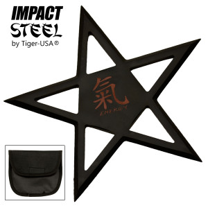 SALE Closeout EXTRA LARGE 5 Point Black Throwing Star 7 Case RM545BK