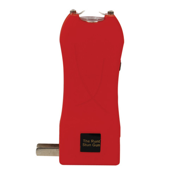Rechargeable Runt 20,000,000 voltstun gun withflashlight and wrist strap disable pin Red RUNT-RED