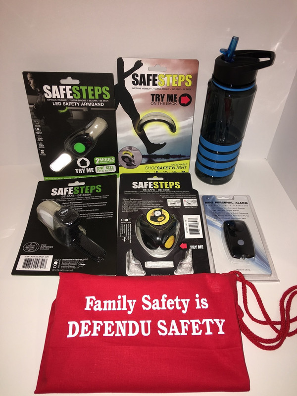 Run or walk in safety. Lights and alarms so you can be seen and heard.
