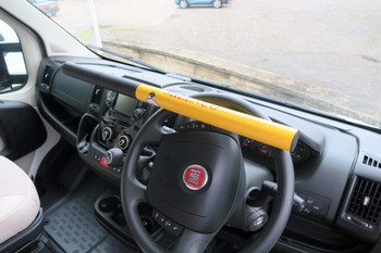Milenco High Security Commercial Steering Wheel Lock (YELLOW) - Sold Secure Gold Standard