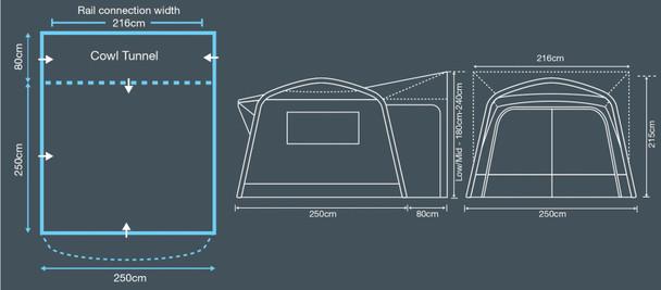 Outdoor Revolution Cayman Midi Air - New for 2019 - FREE Footprint Groundsheet (Worth £24.99)