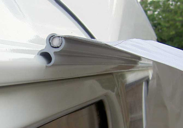 Fig 8 used to attach driveaway Awning on vehicles fitted with gutter rail
