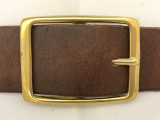 "Solid Brass Center Bar Buckle-1.5"""