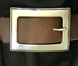 """Square Stainless Steel Center Bar Buckle-1.5"""""""