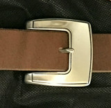 Neat Stainless Steel Center Bar Buckle-1.5""