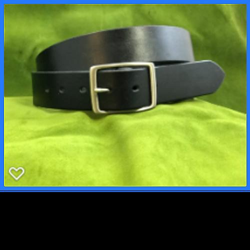 "1.5"" Black Dress Belt"