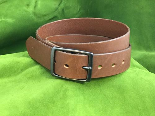 """1.5"""" Brown Dress Belt"""