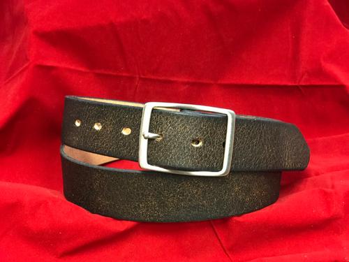 """1.5"""" Black Crackled Belt"""