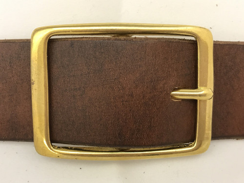 Solid Brass Center Bar Buckle-1.5""