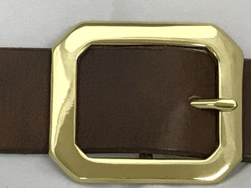 Clipped Corner Solid Brass-1.5""