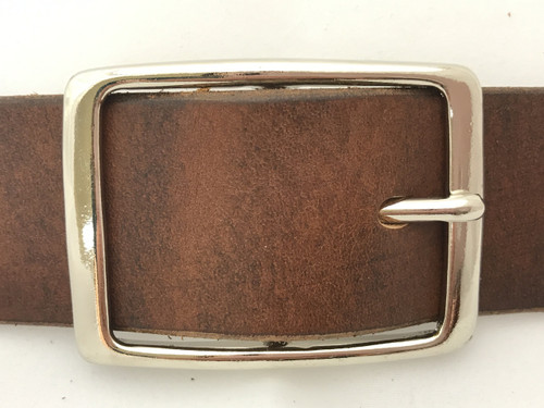 Polished Nickel Center Bar Buckle-1.5""