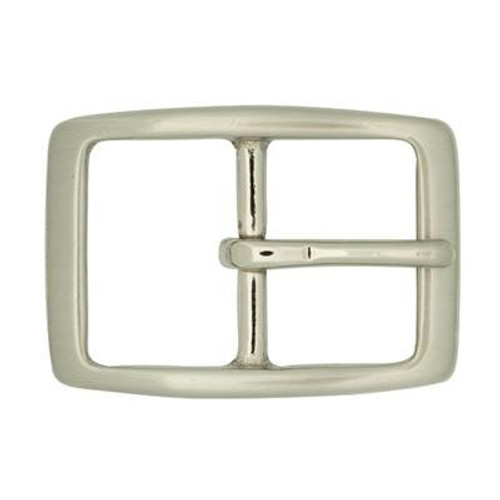 Brushed Nickel Center Bar Buckle-1.5""