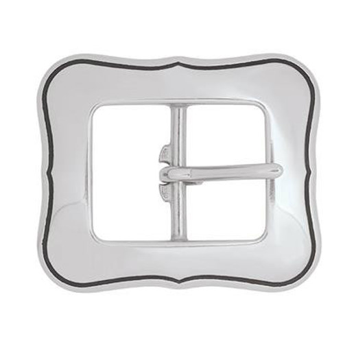 Fancy Stainless Steel Center Bar Buckle-1.5""