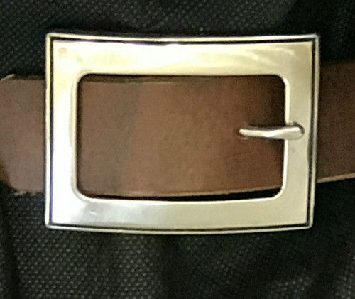 Square Stainless Steel Center Bar Buckle-1.5""