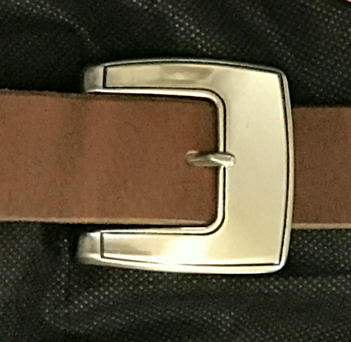 """Neat Stainless Steel Center Bar Buckle-1.5"""""""