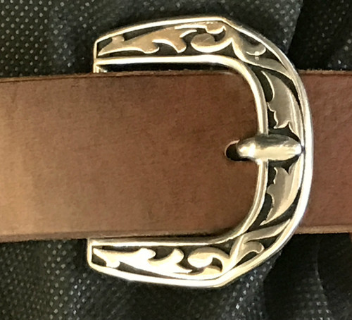 """Paul Stainless Steel Stationary Tongue Buckle-1.5"""""""