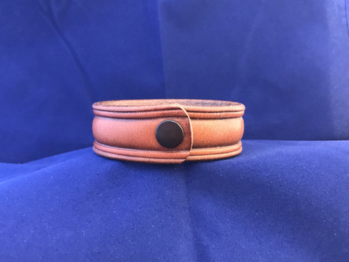 Leather Domed Center Bracelet