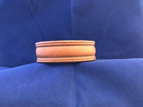Leather Domed Center Bracelet