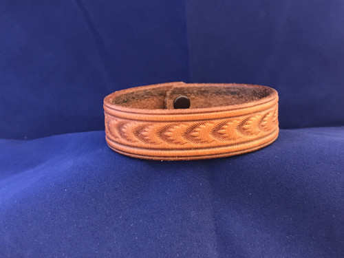 Arrow Stamped Leather Bracelet