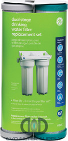 GE FXSVC - Dual Stage Drinking Water Filtration System Replacement Filter (VOC)