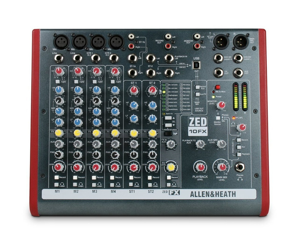 Allen and Heath Allen and Heath ZED-10FX Four Mono Mic/Lines with Onboard Effects
