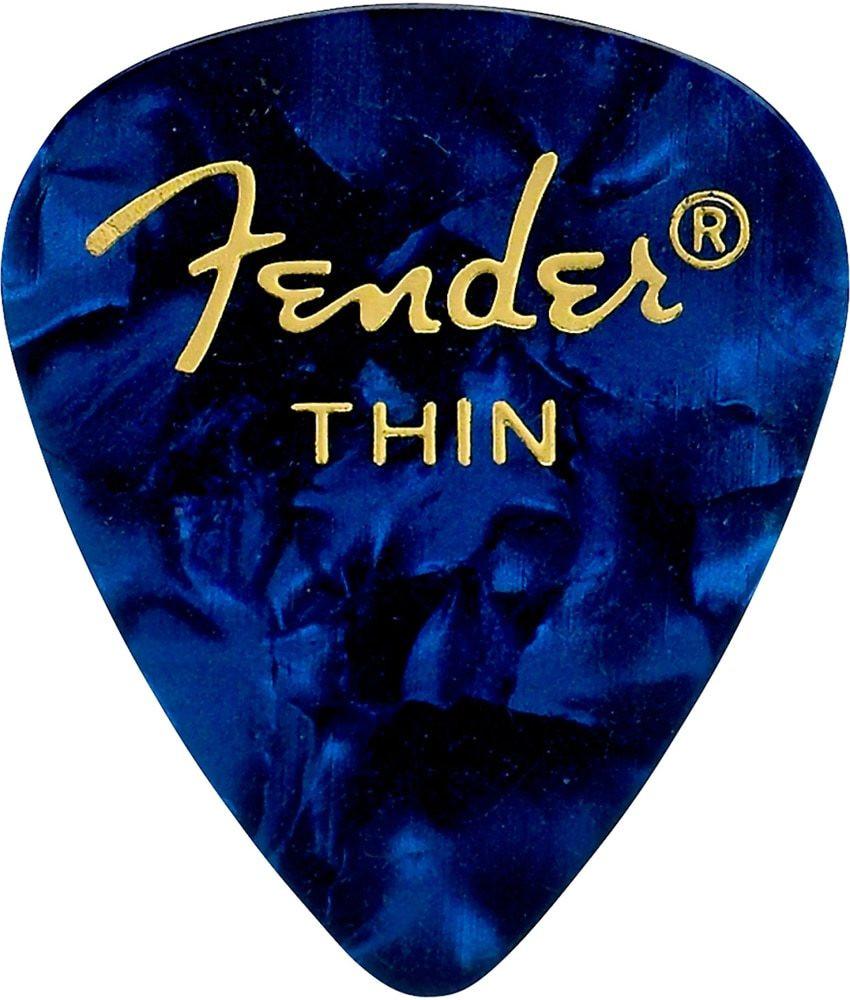 Fender Fender Thin Blue 351 Celluloid Guitar Picks, 12 pack