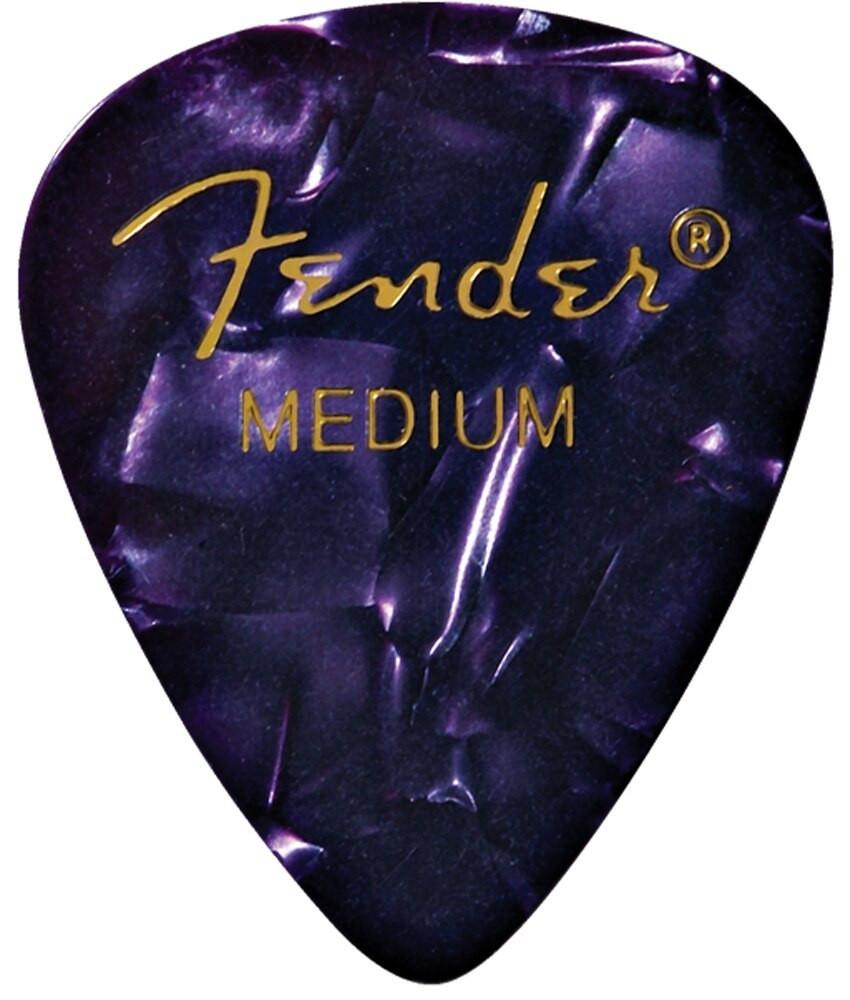 Fender Fender Medium Purple 351 Celluloid Guitar Picks, 12 pack