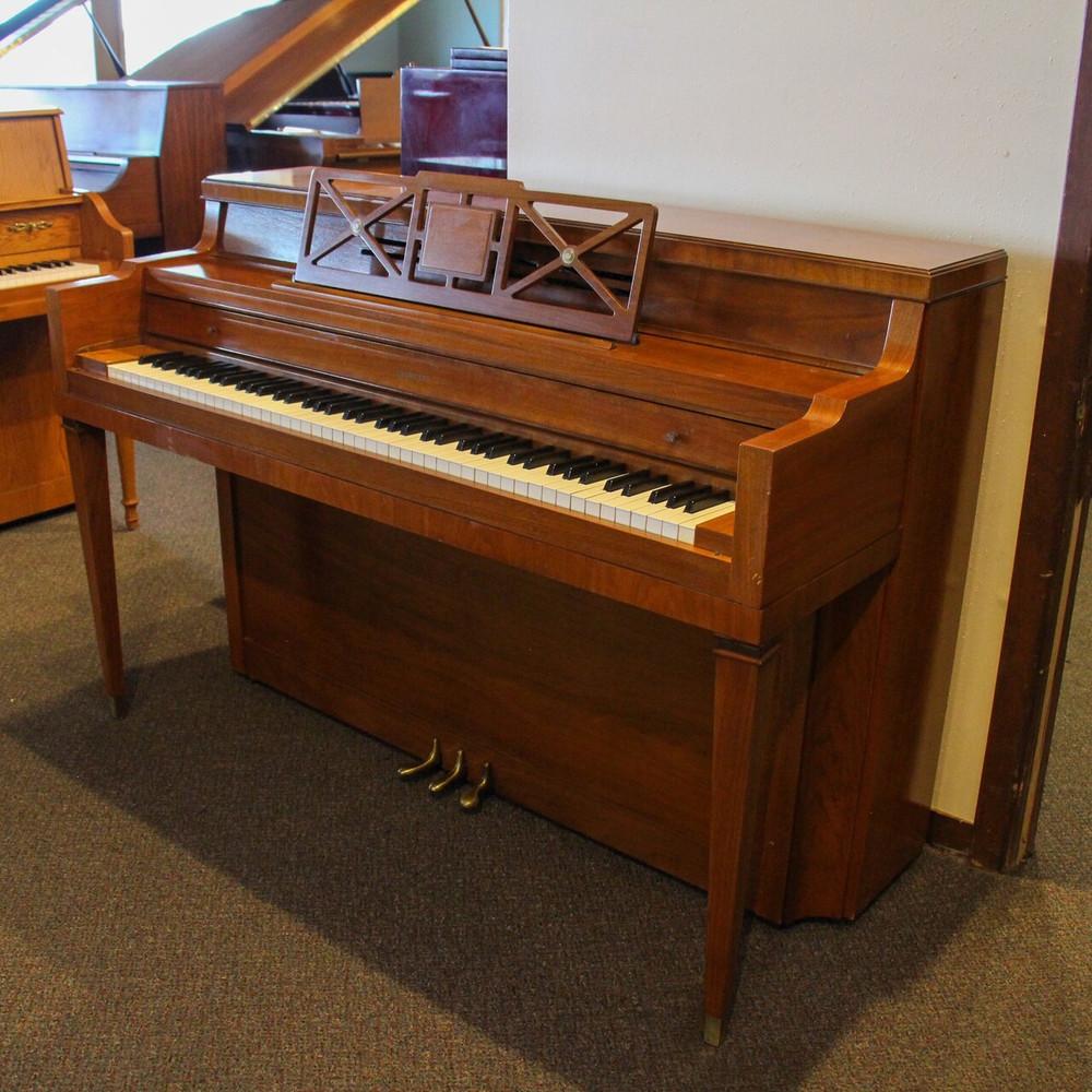 Everette Everette Upright Furniture Console Piano or Walnut Finish