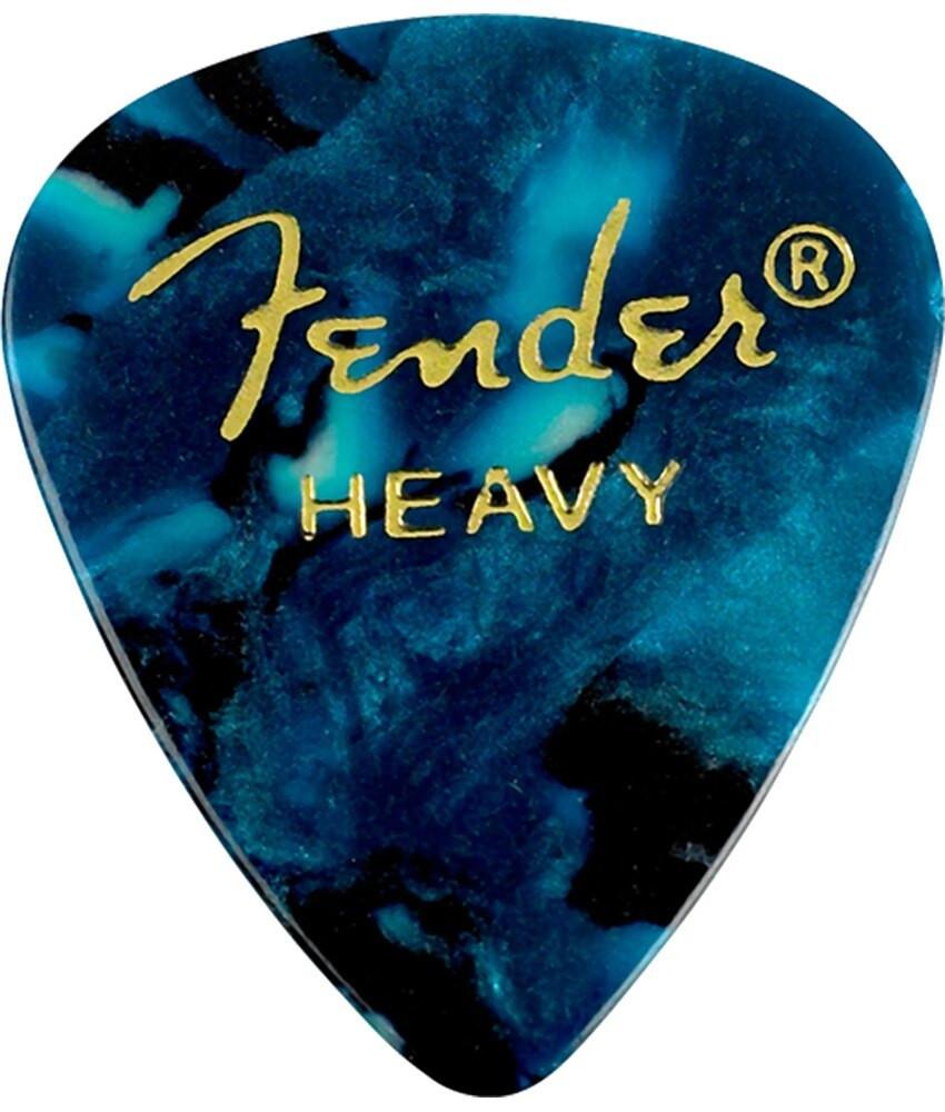 Fender Fender Heavy Turquoise 351 Celluloid Guitar Picks, 12 pack