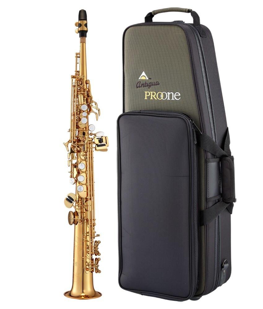Antigua Antigua ProOne Bb Soprano Sax, Vintage Lacquer Finish