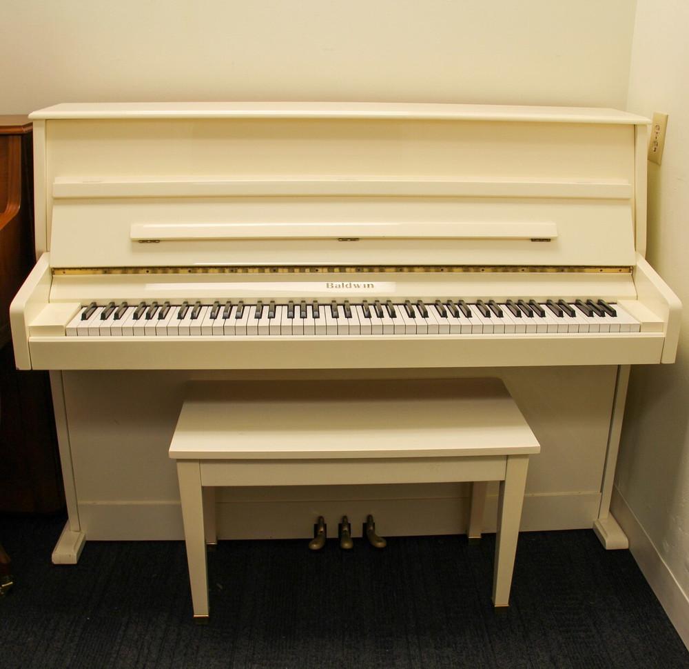 Baldwin Baldwin E100 White Continental Console Upright Piano