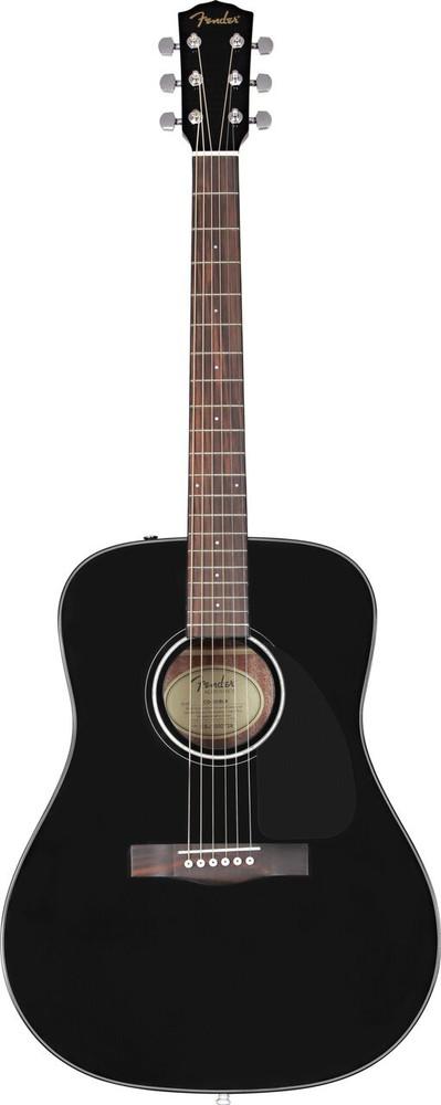 Fender Acoustic Guitars Fender CD-60 Black Acoustic Guitar