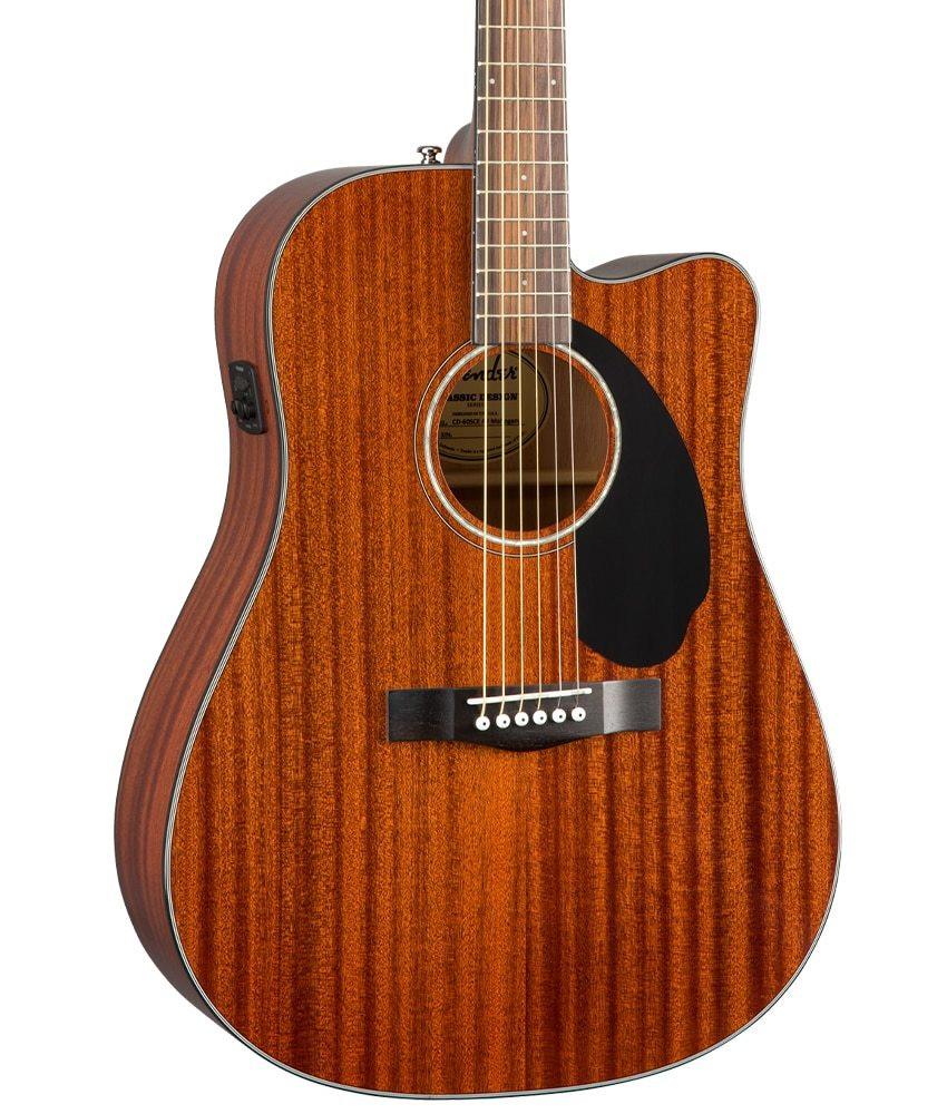 Fender Fender CD-60SCE Dreadnought Acoustic-Electric, Walnut Fingerboard, All-Mahogany