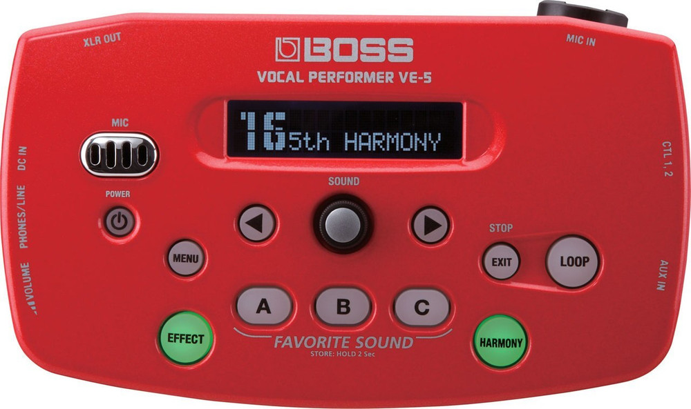 Boss Boss VE-5 Vocal Performer Red