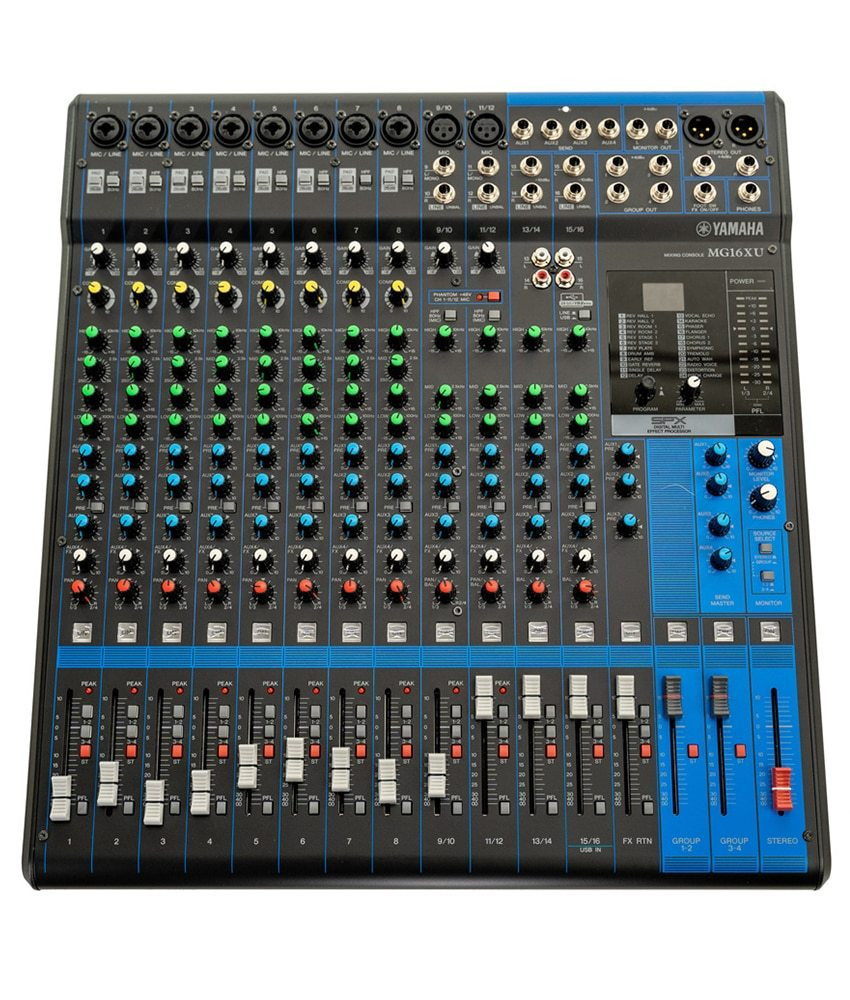 Yamaha Pre-Owned Yamaha MG16XU 16-Channel Analog Mixer with Built-In FX