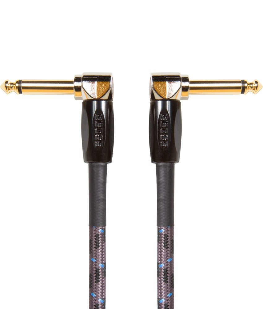 Boss Boss BIC-3AA 3ft / 1m Instrument Cable, Angled/Angled 1/4 jack
