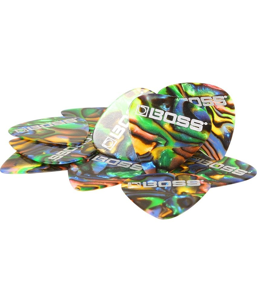 Boss Boss Heavy Celluloid Guitar Pick ABALONE - 12 Pack