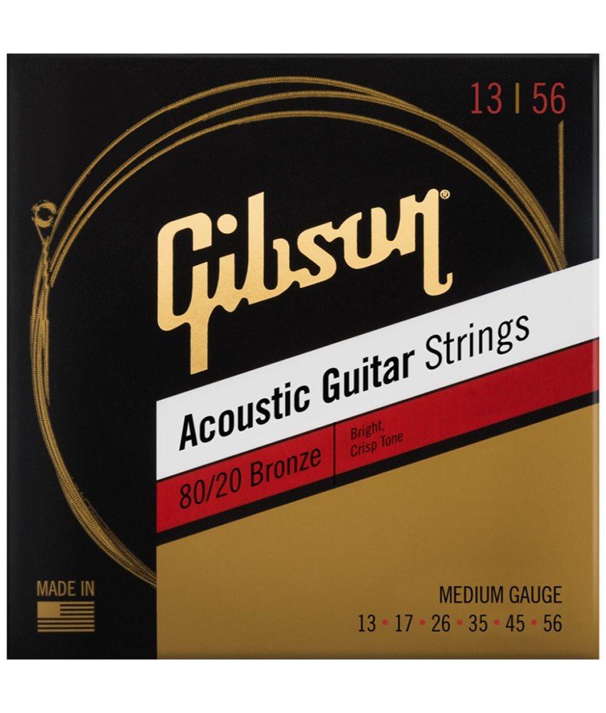 Gibson Gibson 80/20 Bronze Acoustic Guitar Strings -.013-.056 Medium
