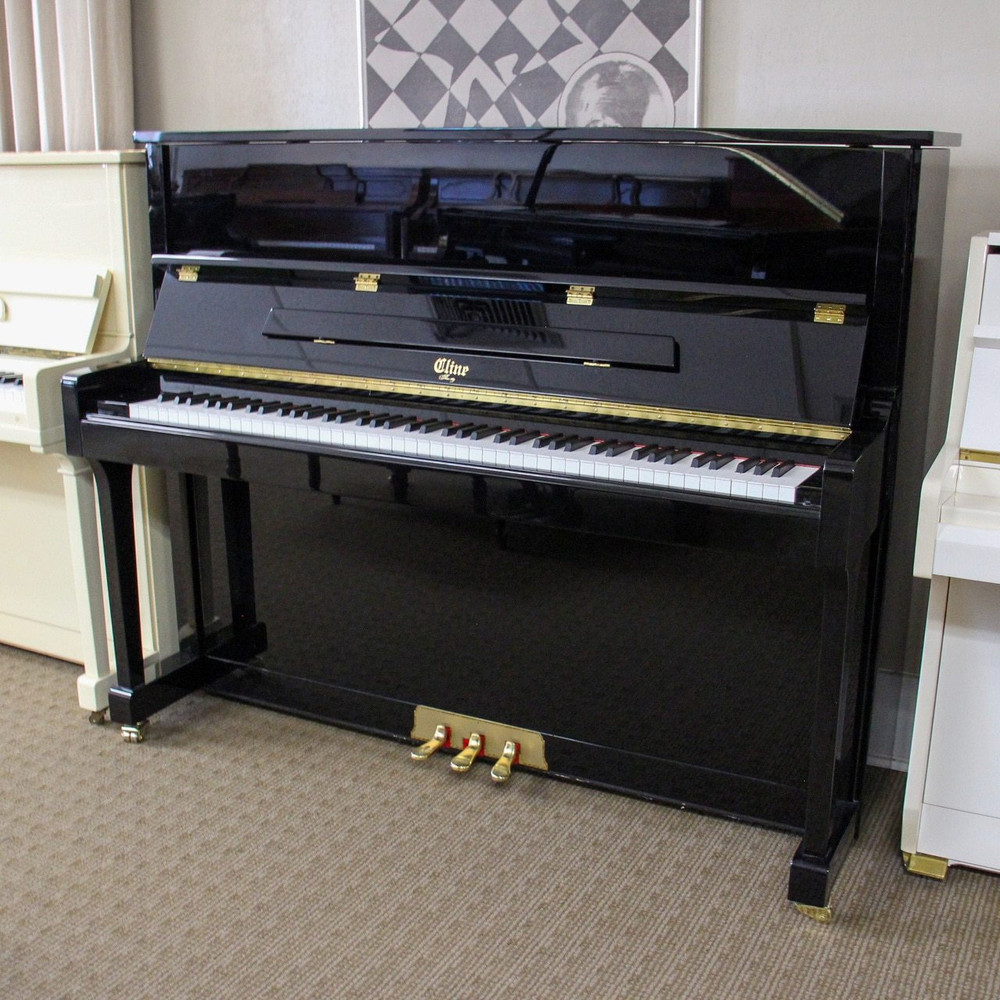 Cline Cline Crescendo Hl 121 Polished Ebony Upright Studio Piano