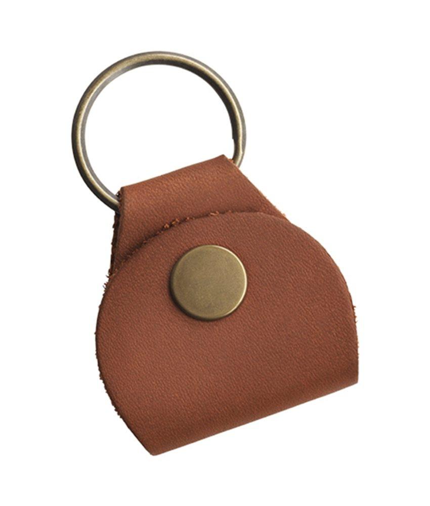 Gibson Gibson Premium Leather Pickholder Keychain - Brown