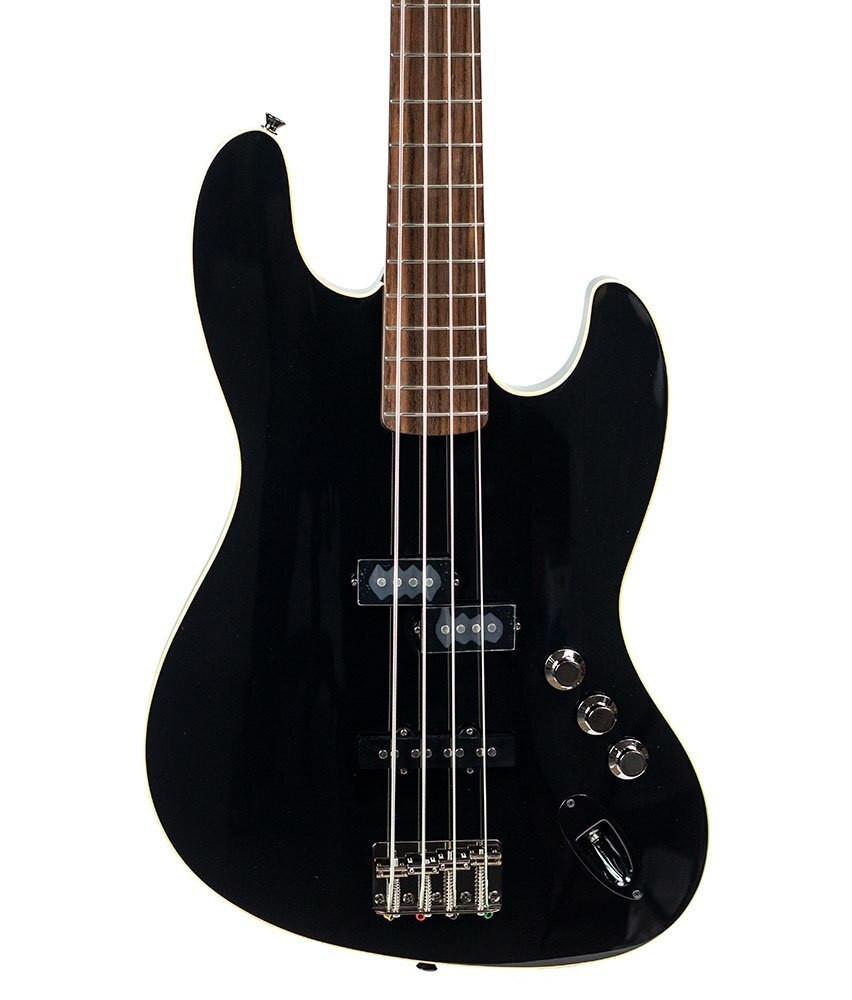Fender Fender Aerodyne Jazz Bass, Stained Rosewood Fingerboard - Black