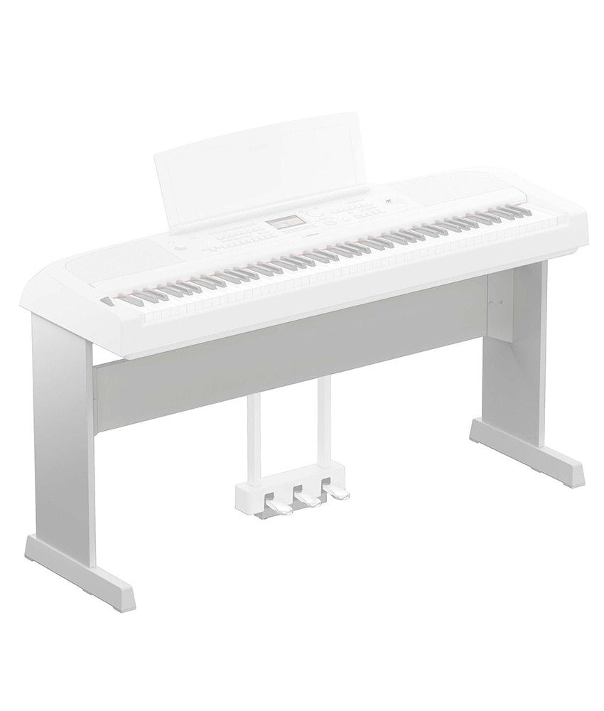 Yamaha Yamaha L-300 Wooden Stand for DGX-670 and PS-500 Keyboards - White
