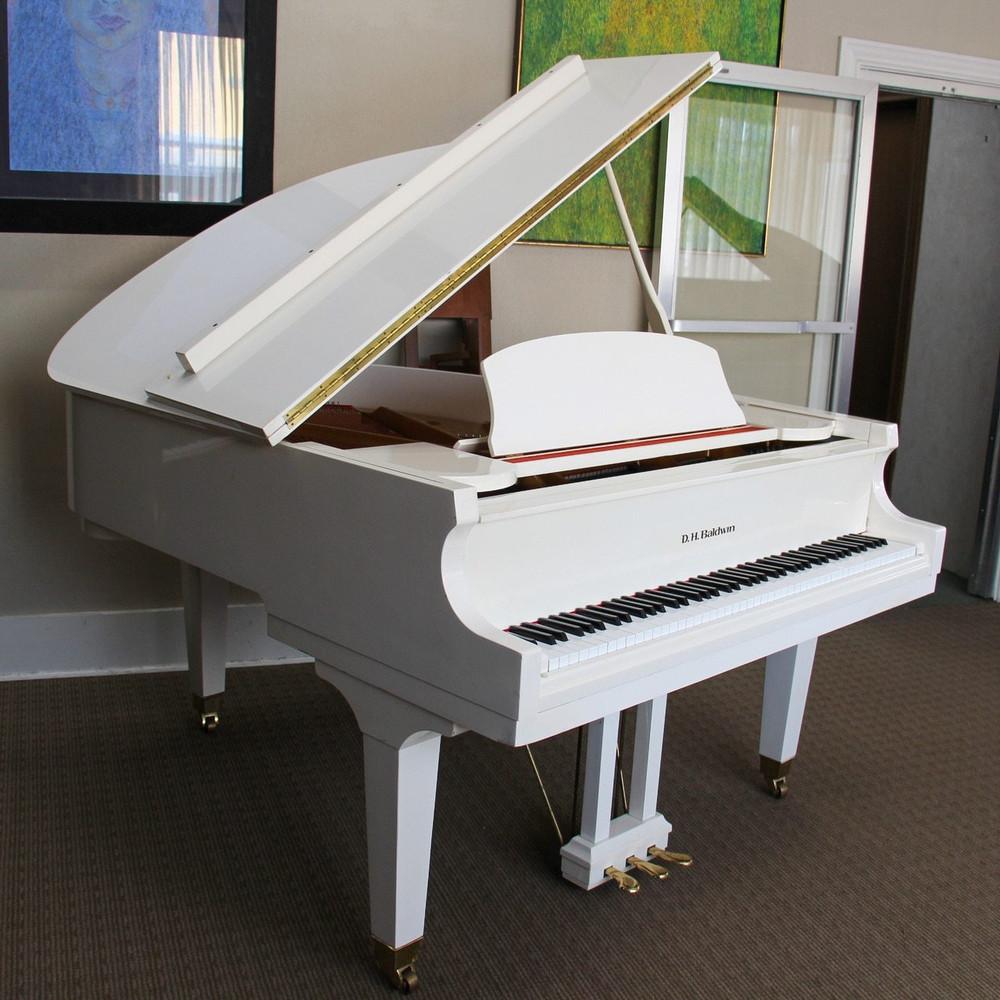 DH Baldwin DH Baldwin C172 58 White Polished Grand Piano