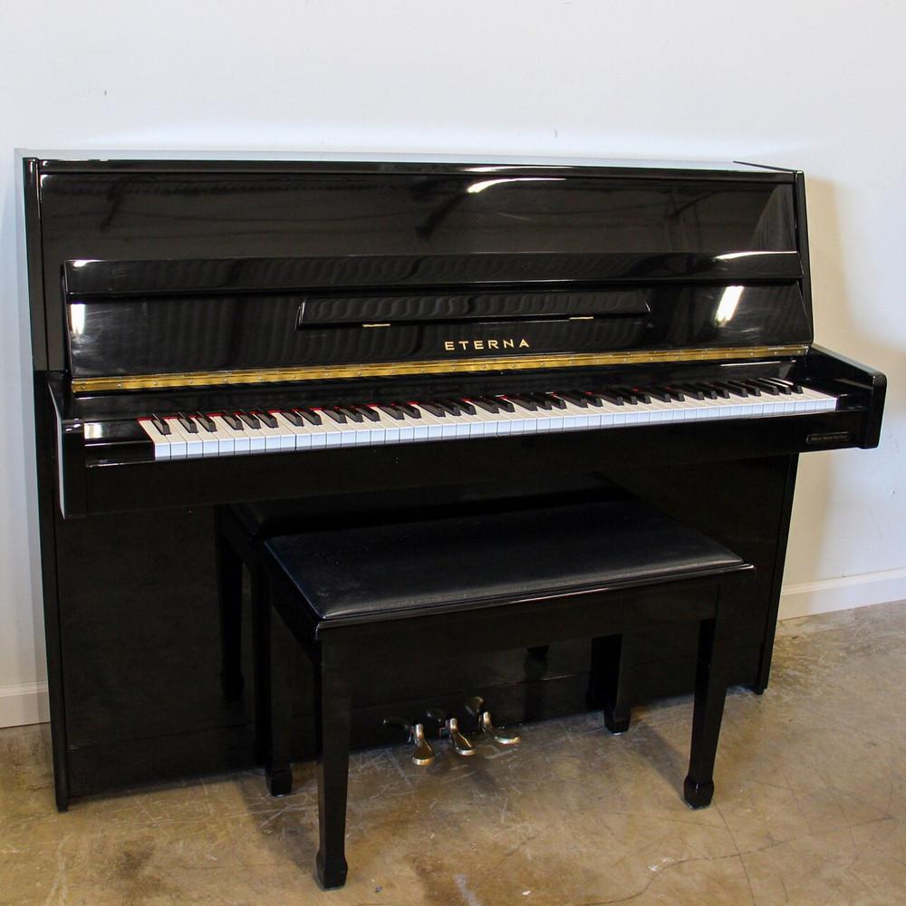 Eterna Eterna ER-C10 Polished Ebony Continental Console Piano