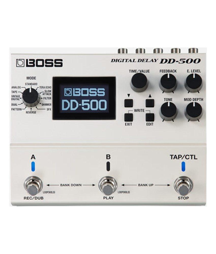 Boss Boss DD-500 Digital Delay Pedal Bundle w/ AC Adapter