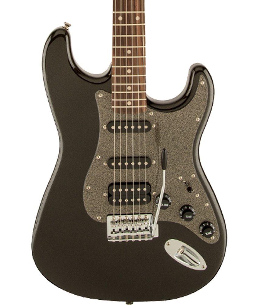 Squier Pre-Owned Squier by Fender Affinity Series Stratocaster HSS, Laurel Fingerboard, Montego Black Metallic